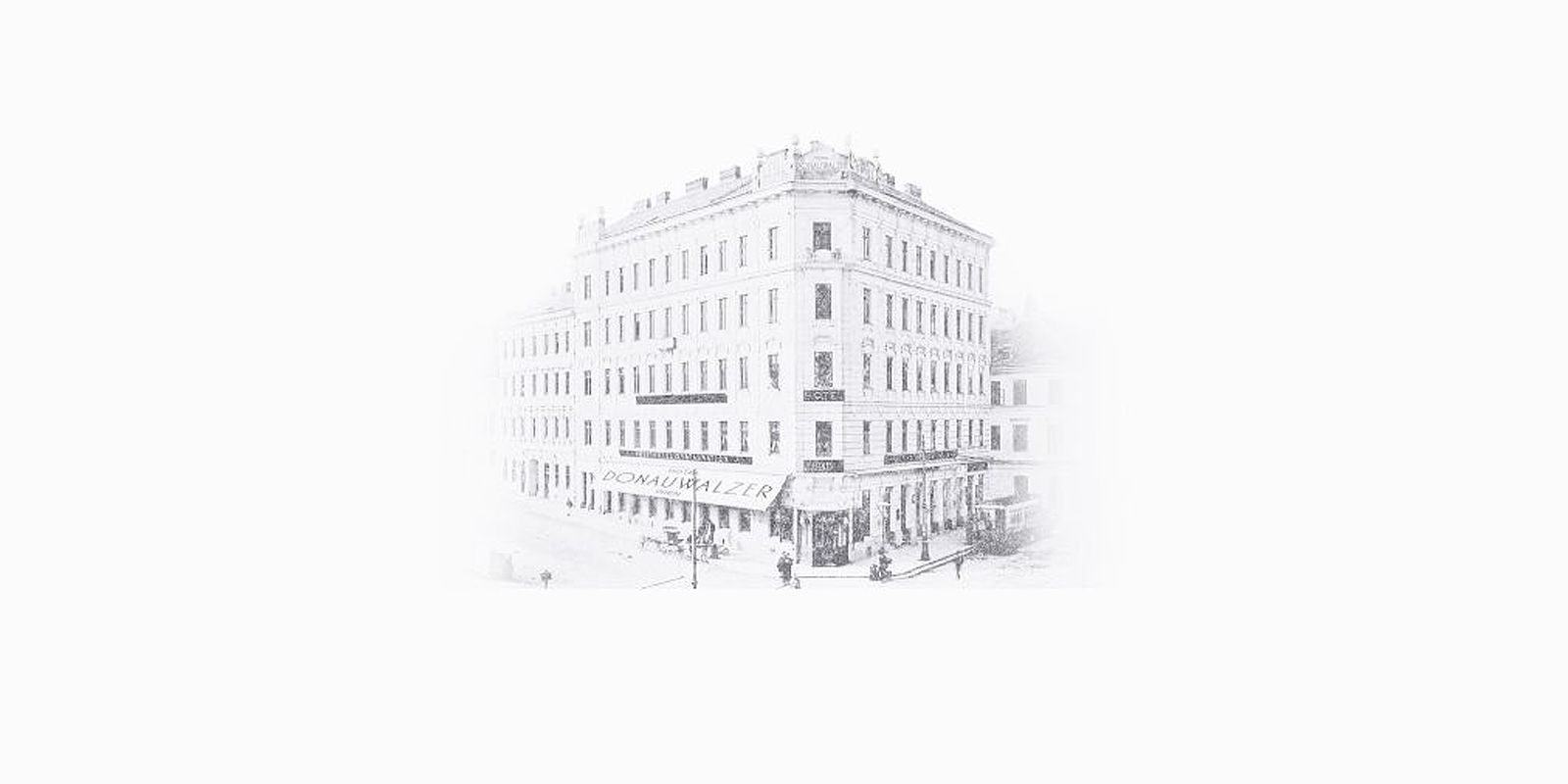 Das Hotel Donauwalzer im Jahr 1901